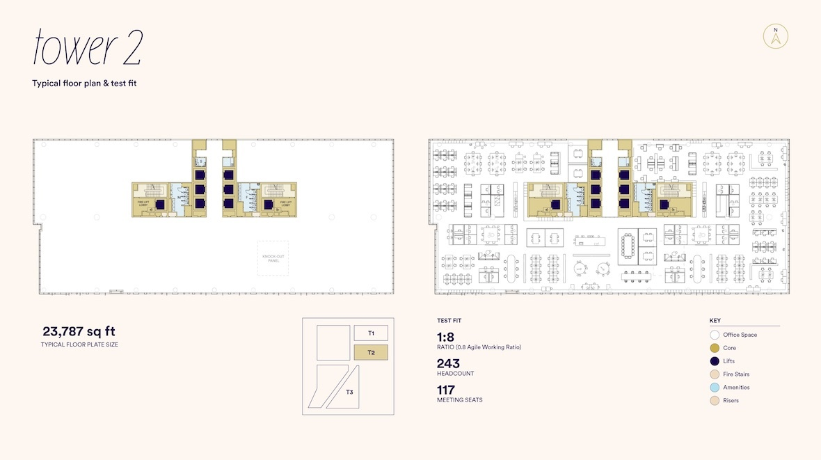 Typical Office Floorplan & Testfit