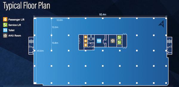 Ubix typical floor plan
