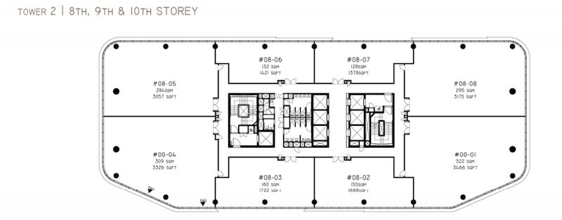 Woods Square Tower 2 floor plan